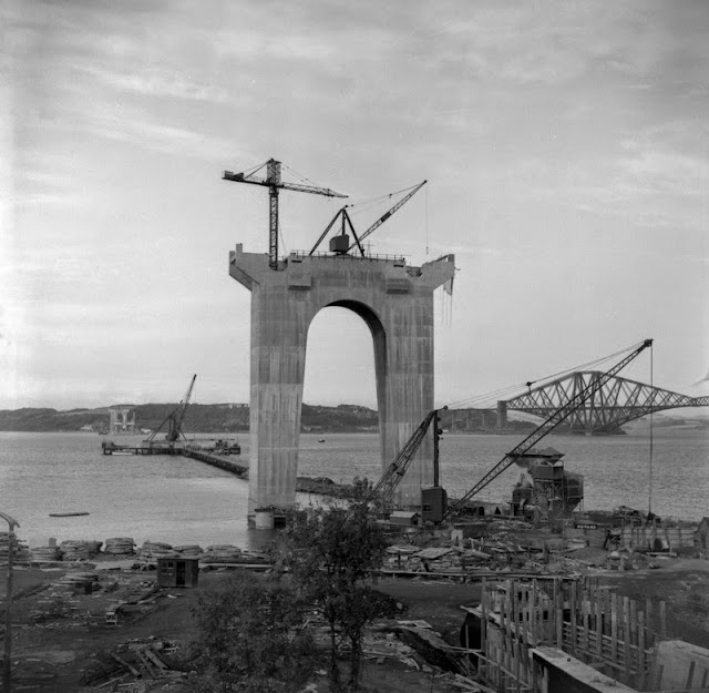 South Pier. Images from the Hugh O'Neill collection of the construction of the Forth Road Bridge.