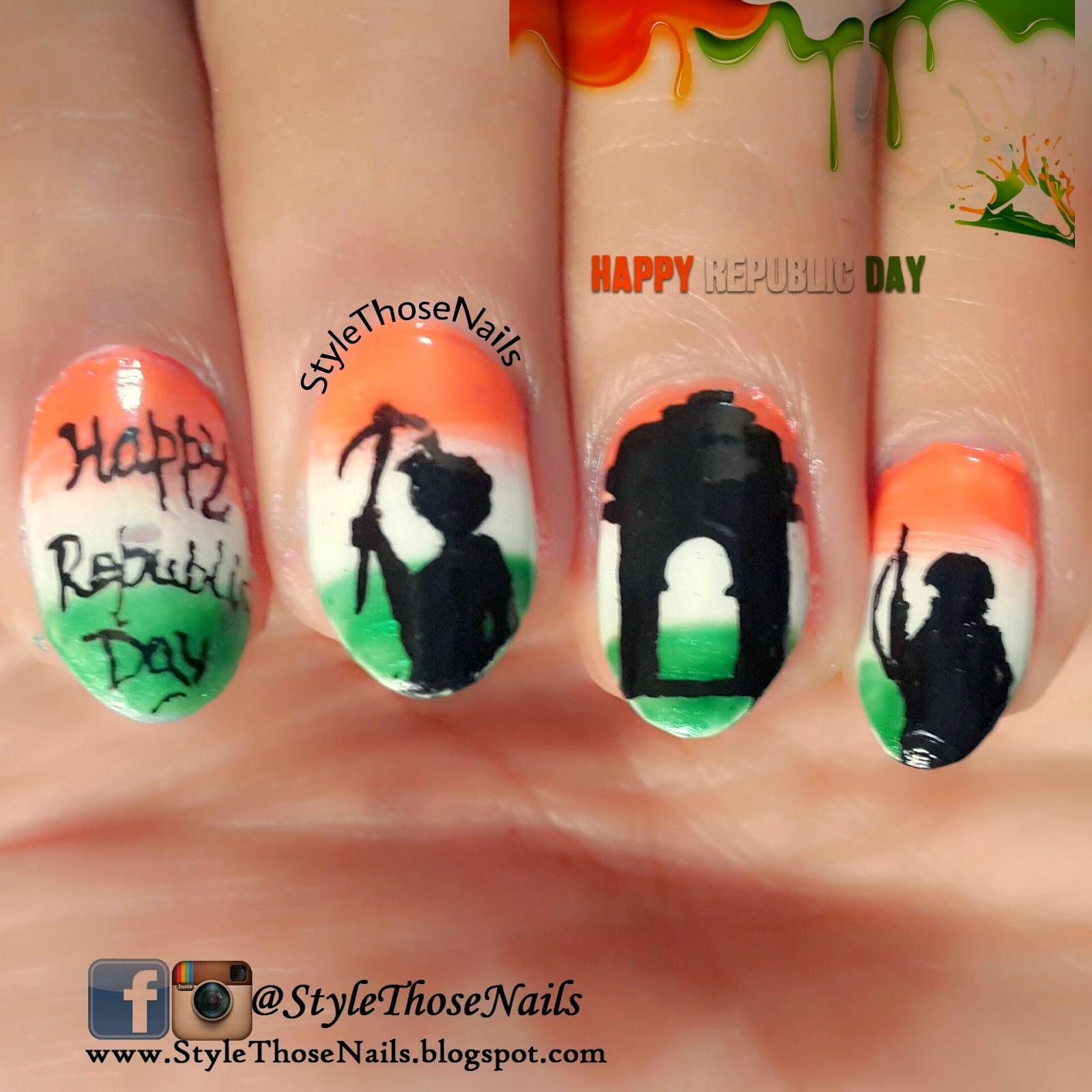Style Those Nails: Indian Republic Day- 26 January 2015 Nailart