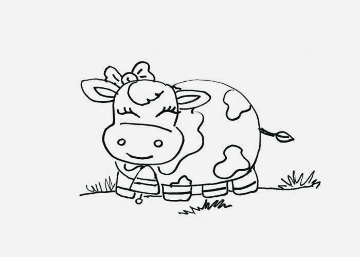 Cute cows coloring pages Free