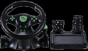 Volante com Pedal para PC/PS2/PS3/Xbox 360 - Multilaser Racer 4 em 1