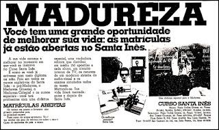 curso madureza, 1973; os anos 70; propaganda na década de 70; Brazil in the 70s, história anos 70; Oswaldo Hernandez;