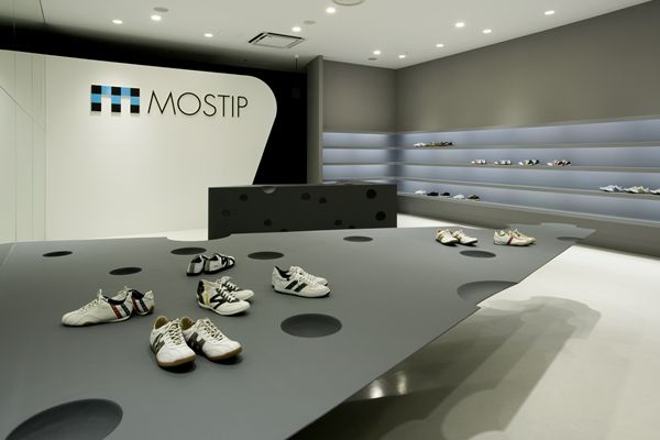 Shoes Are Displayed On The Big Triangle. They Are Placed As If An Invisible  Man Is Enjoying A Moonwalk. An Arrow Tip Shaped Triangle Is Not Floating,  ...