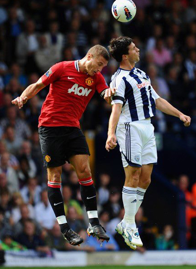 Nemanja Vidic Manchester United vs West Brom Barclays Premier League