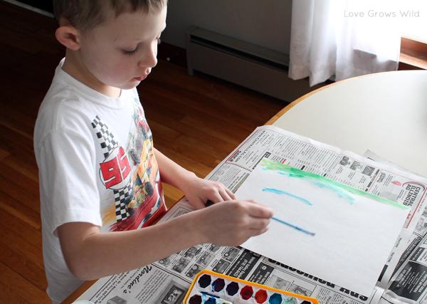 Modern Watercolor Kids Art by Love Grows Wild www.lovegrowswild.com #art #kid #decor