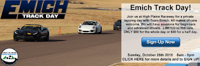 Emich Track Day- October 2015