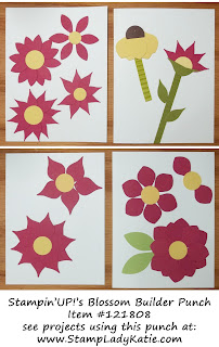 Ways to use Stampin'UP!'s Blossom Builder Punch