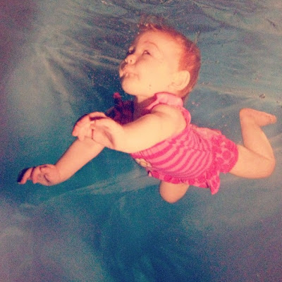underwater baby swimming