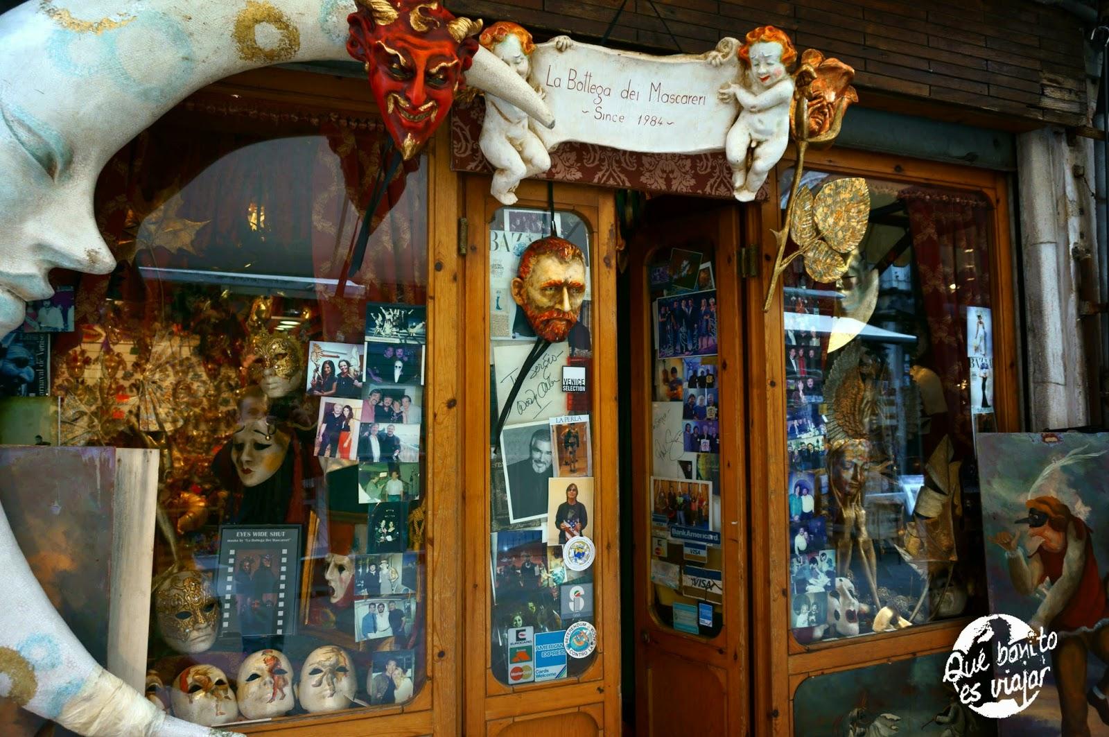 Tienda de Mascaras Carnaval en Venecia