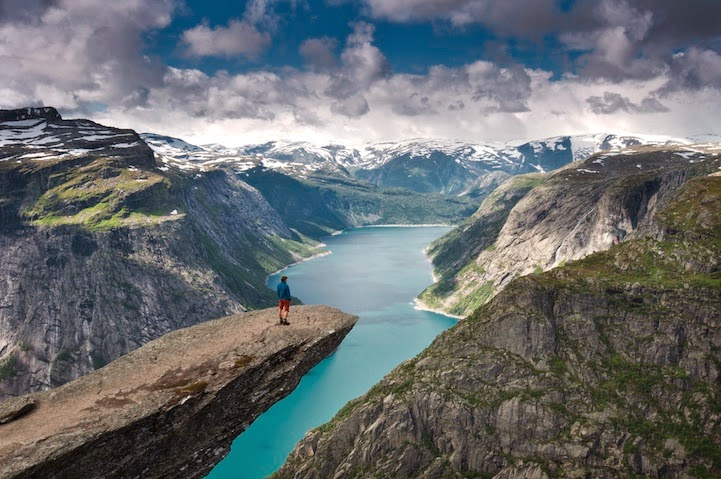 Trolltunga or The Troll's Tongue in English gets its name from the oddly shaped rock formation of the cliff. - Getting To This Place Is Extremely Difficult… But 8-10 Hours Later, It'll Blow You Away.