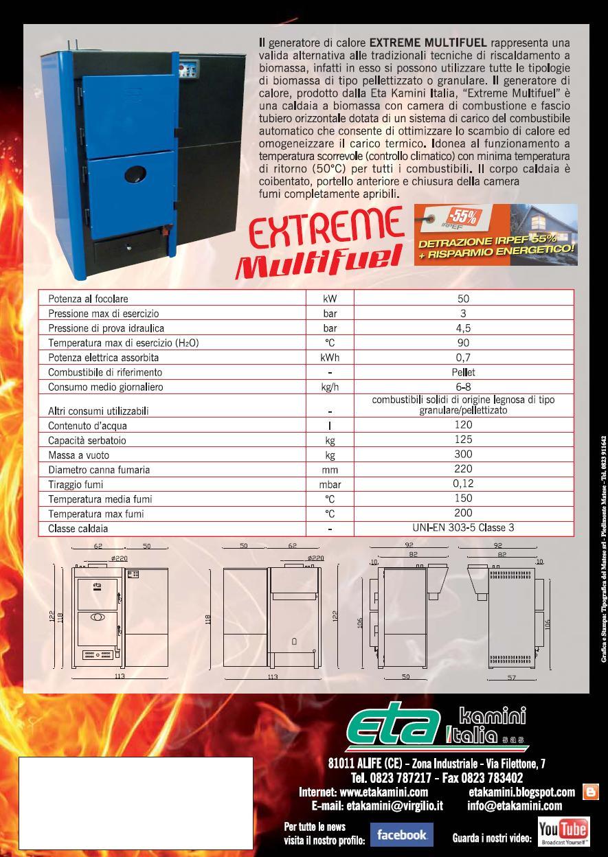 Extreme multifuel termostufe e stufe a pellet eta kamini for Eta kamini