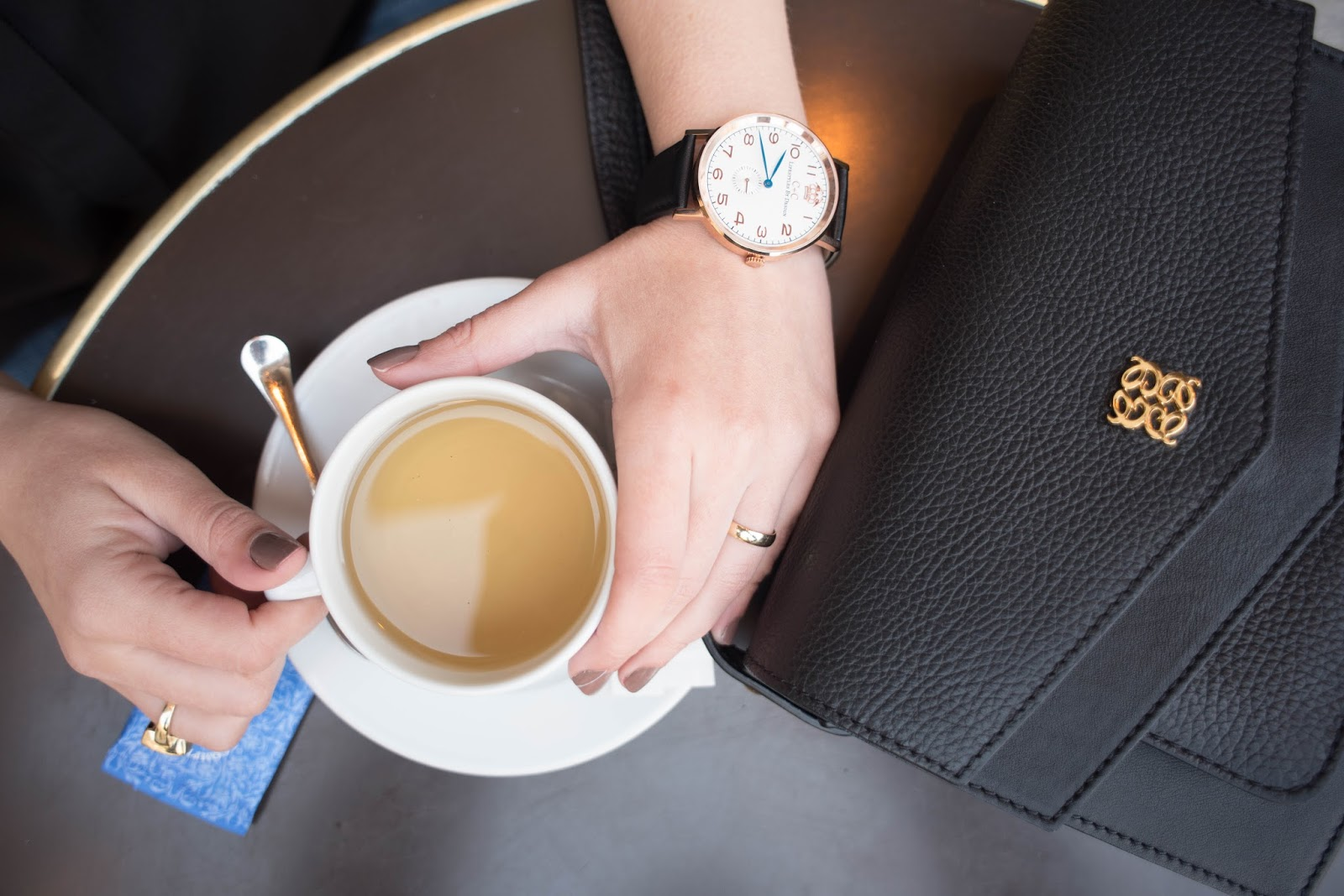 coco and vera, top paris fashion blog, angel reinares merlot, its all in the details, cc lifestyles watch, tea, le nemours, paris cafe, gold ring,