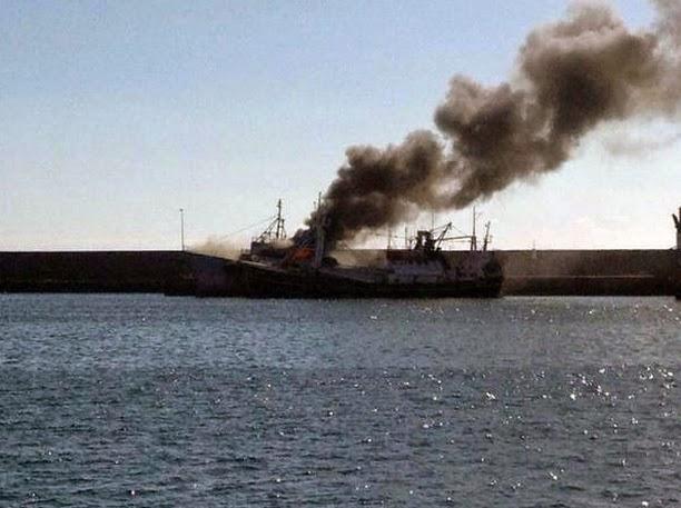 incendio barco las  palmas de gran canaria 2 septiiembre