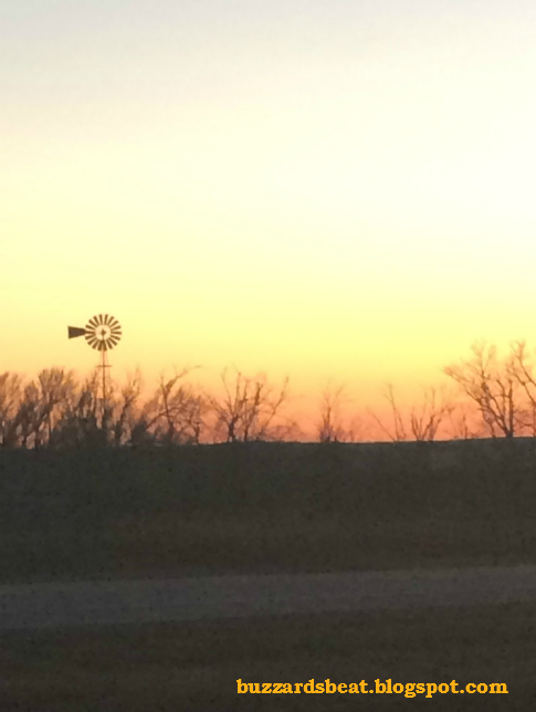 Windmill during a sunset in Kansas