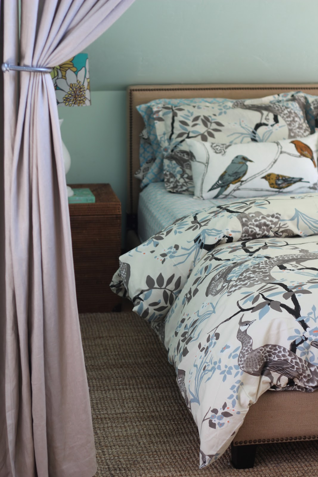 back on festive road new dwell studio peacock bedding - i do feel a bit disloyal because i loved my old duvet so much and it didhelp me win a design competition but the new duvet is so fresh and cleanlooking