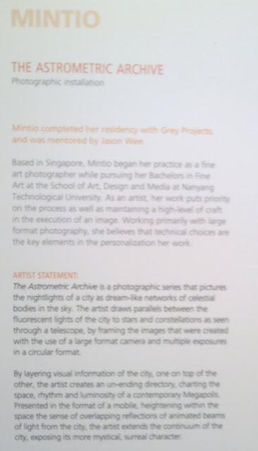 The Art Incubator, Lasalle, Singapore, Mintio, The Astrometric Archive