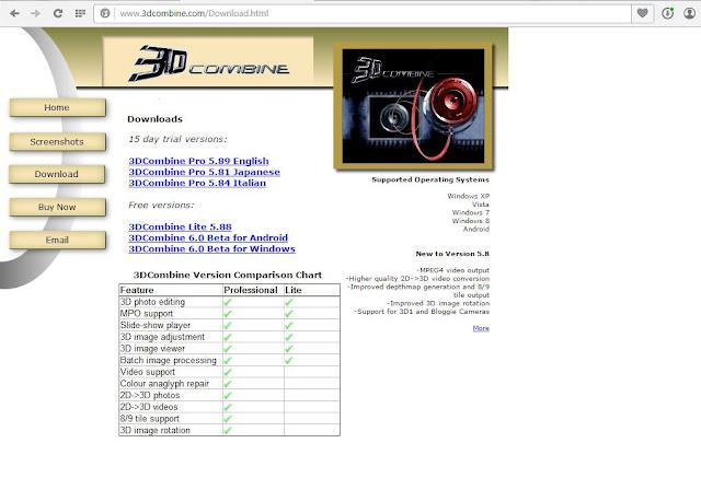 2d to 3d converter download page 3dcombine