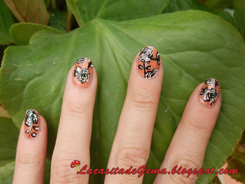 La casita de Gema: Tutorial uñas decoradas (Nail art) Nº37 Flores en ...