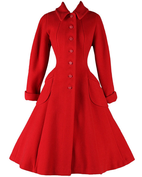Retro Rack: Manners & Mutiny Tour ~ Black Coat Dress with Red Trim