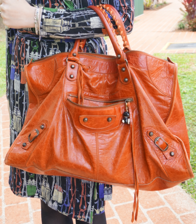 Away From Blue handbag Balenciaga rouille work