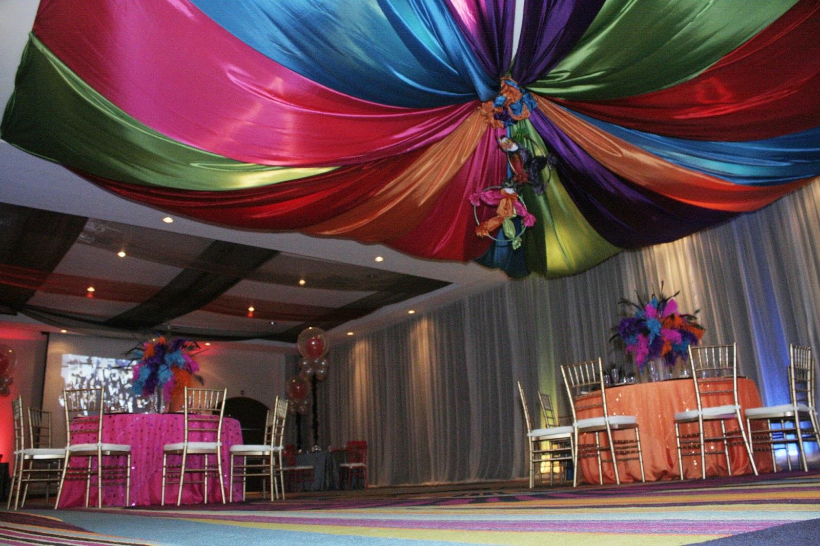 Decoracion de techos para fiestas infantiles for 3 fifty eight salon