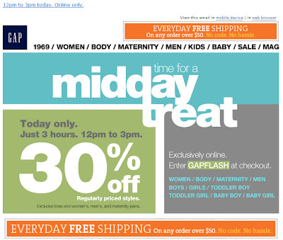 Click to view this June 14, 2011 Gap email full-sized