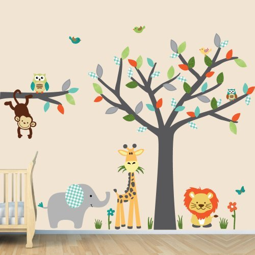 Baby nursery wall stickers best baby decoration for Baby room decoration wall stickers