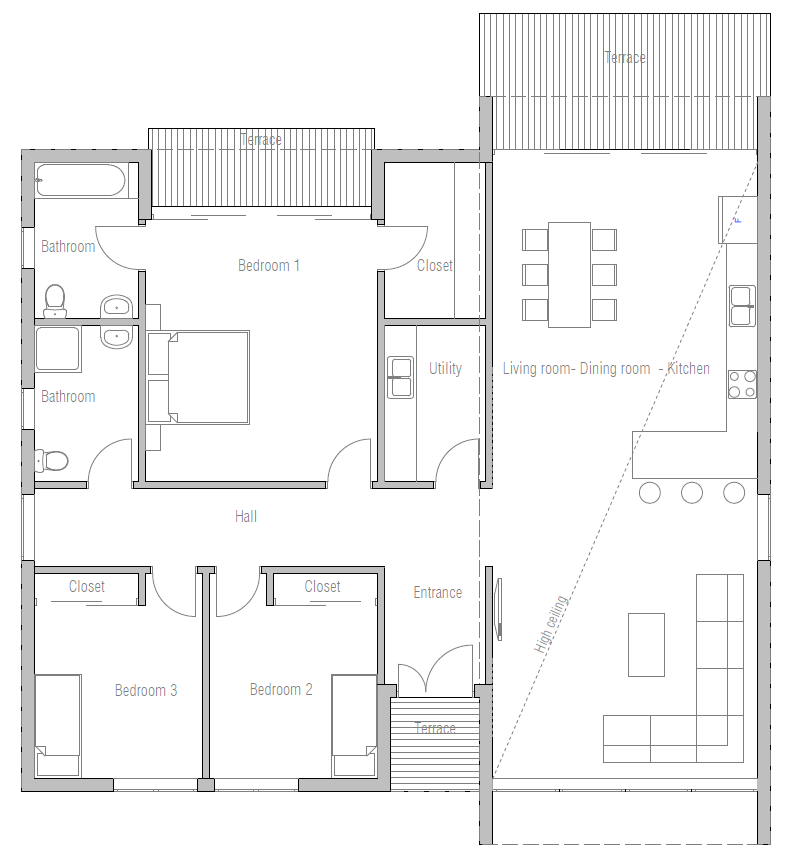 Affordable Modern Home Plan CH281