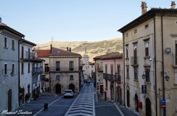 Pescocostanzo, vista dalla Basilica di Santa Maria del Colle