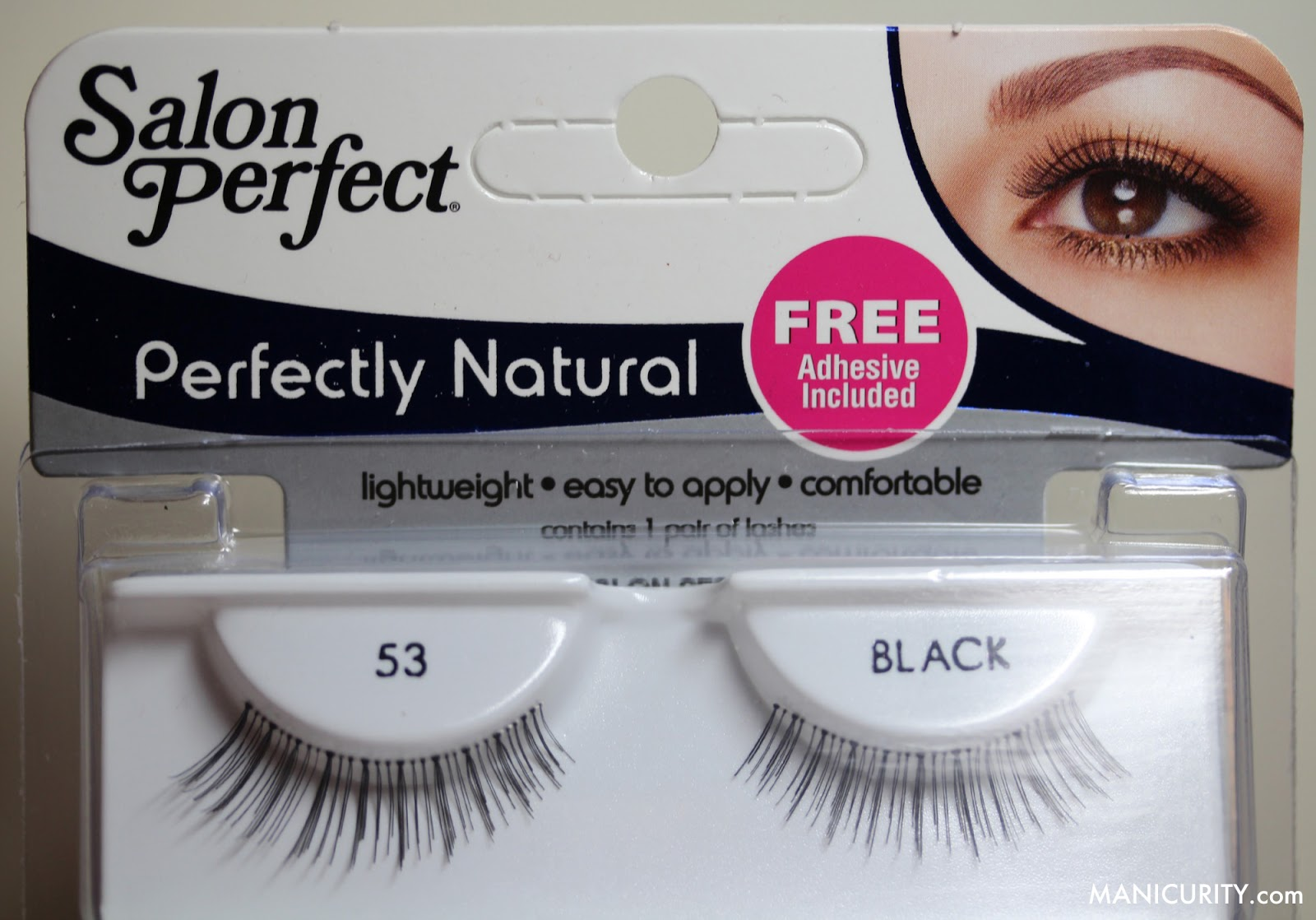 Manicurity - Ipsy Glam Bag December 2013 Hits & Misses | Salon Perfect Perfectly Natural Strip Eyelashes #53 black