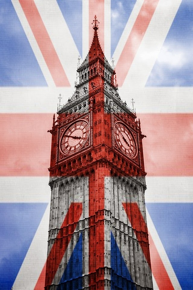 big ben british flag