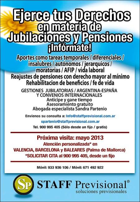 Jubilaciones y Pensiones en España