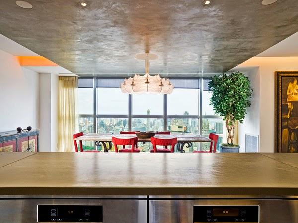 ... untuk interior ruang makan yang modis dan cocok untuk ruang kecil