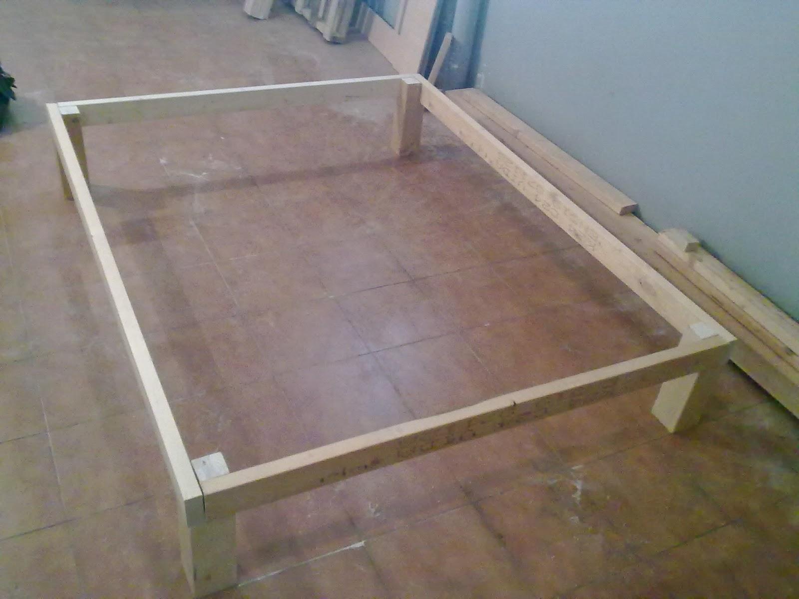 Miguel garcia carpintero somier de madera desmontable - Patas de madera para somier ...