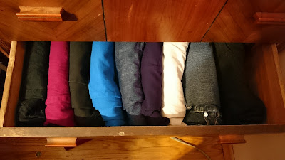 Organized Drawer of Pants
