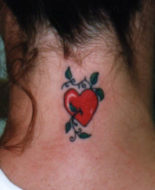 Heart tattoo designs for women latest fashion club for Heart tattoo on neck