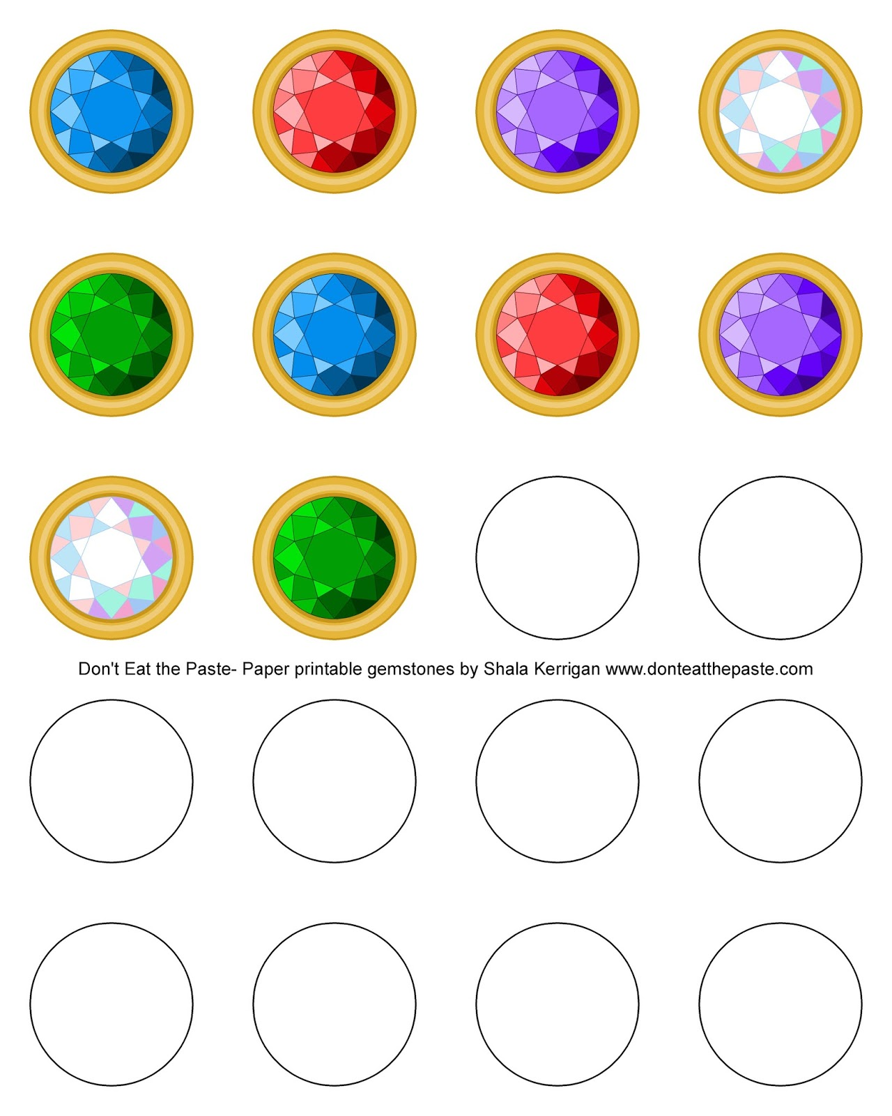 Printable gemstones