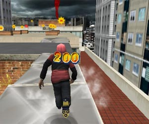 free running flash game