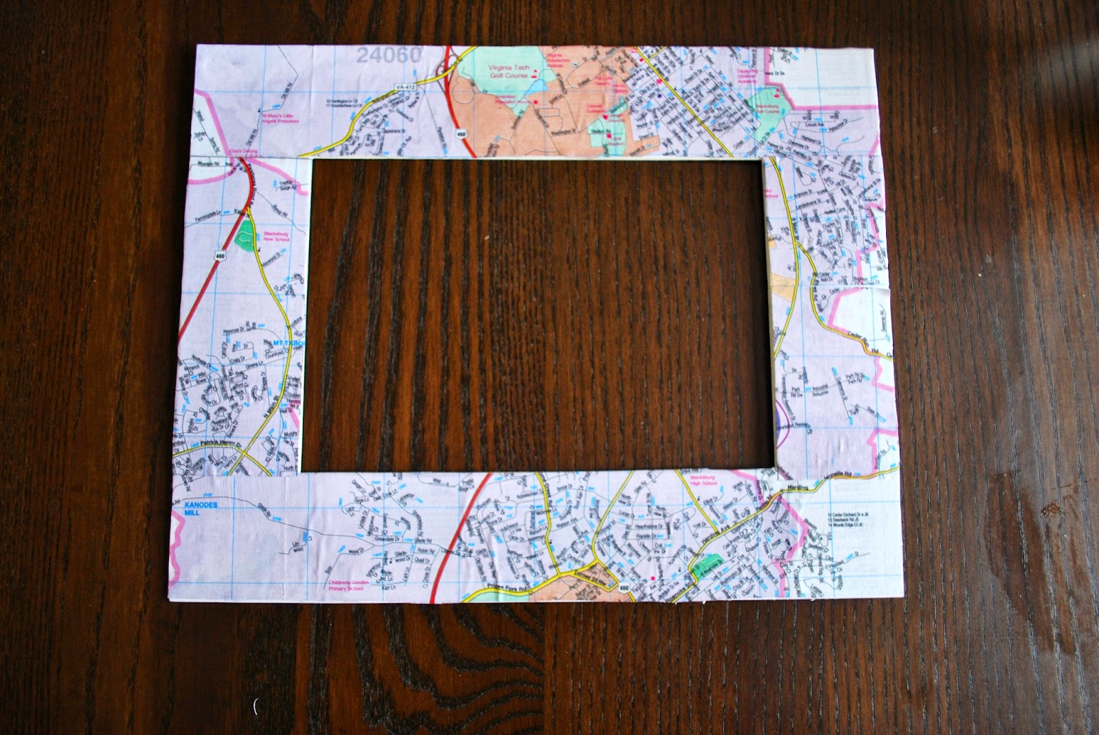 Diy Map Picture Frame Bevy Richmond