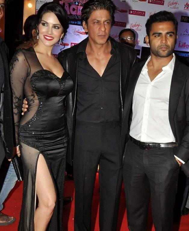 Actress Sunny Leone with Shahrukh Khan   Spicy Photo
