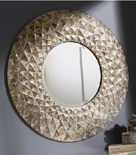 Espejo redondo color oro