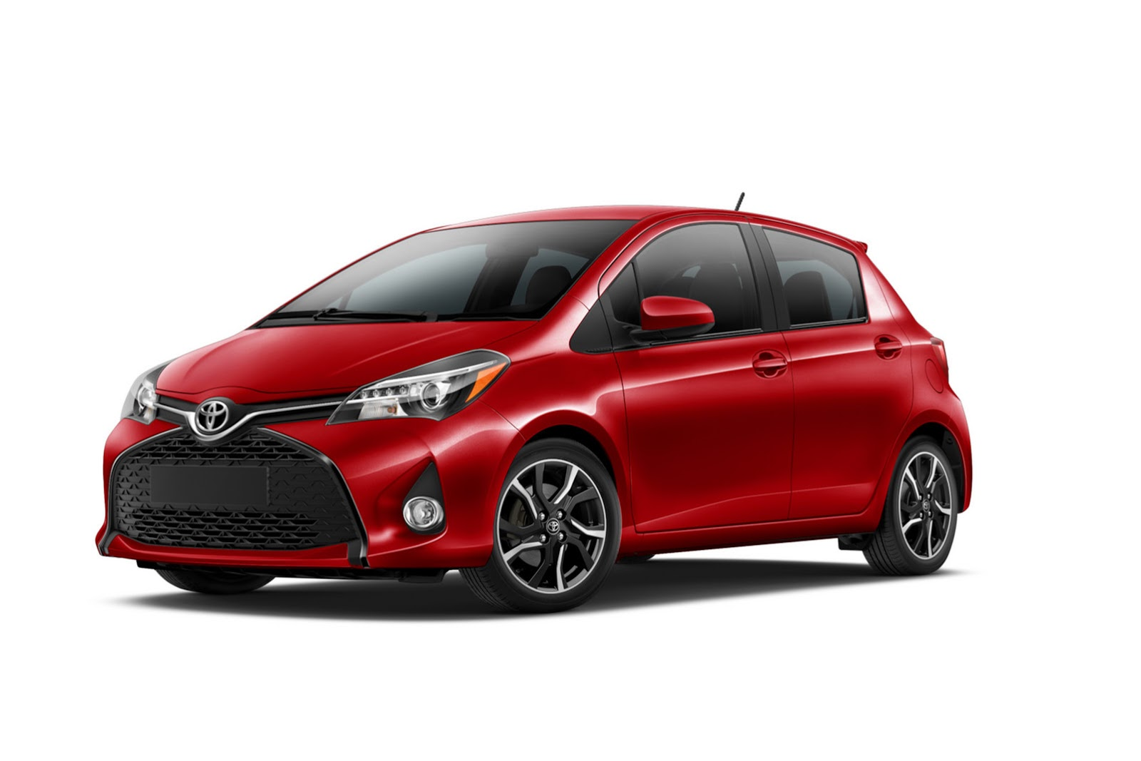 euro flavored 2015 toyota yaris facelift comes to u s priced from 14 485 carscoops. Black Bedroom Furniture Sets. Home Design Ideas