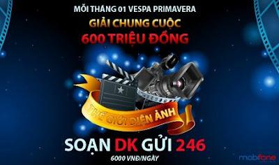 Sở hữu Vespa với khuyến mãi Thế giới điện ảnh Mobifone