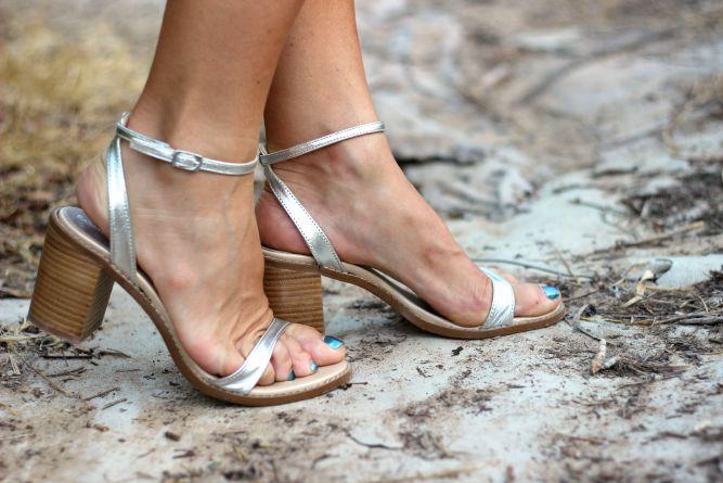 Calzados Sandra - Sandalias plata - Calzado nacional