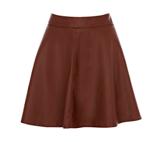 Oasis Full Leather Skater Skirt