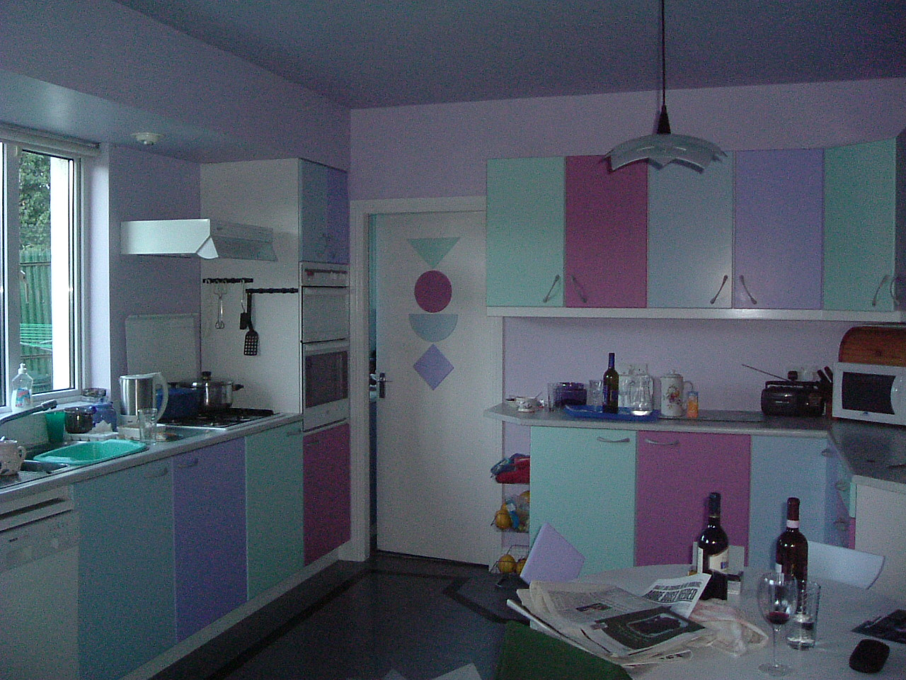 Looking for Blue Sky: The Gallery: A very colourful kitchen