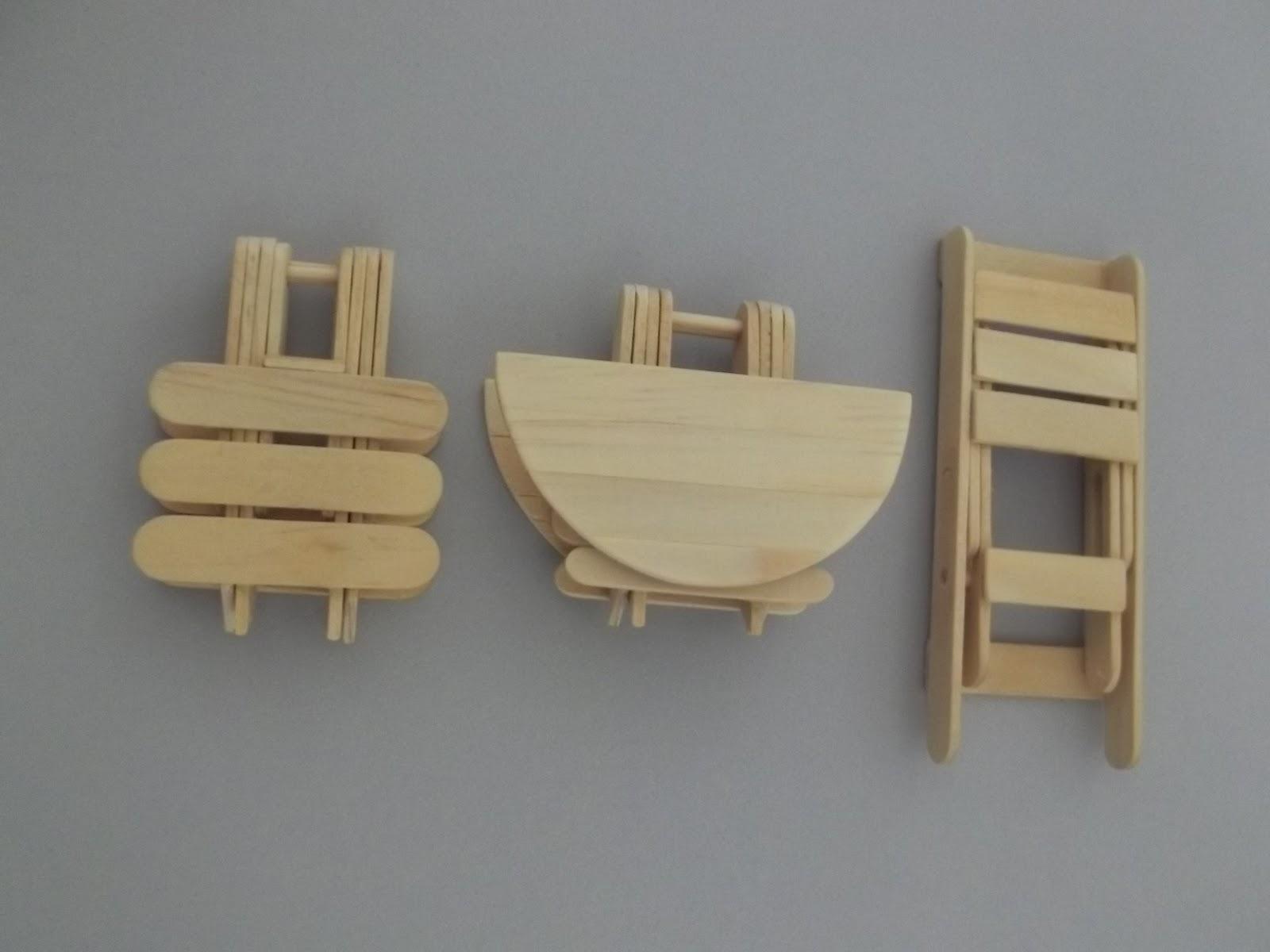 com Palitos de Picolé: Bancos Cadeiras e Mesas: Tudo Articulado #7D6F4E 1600x1200