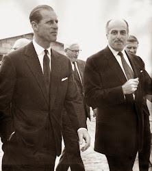 Con el príncipe Felipe de Inglaterra.