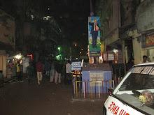 The By-lanes of Kamatipura at night.
