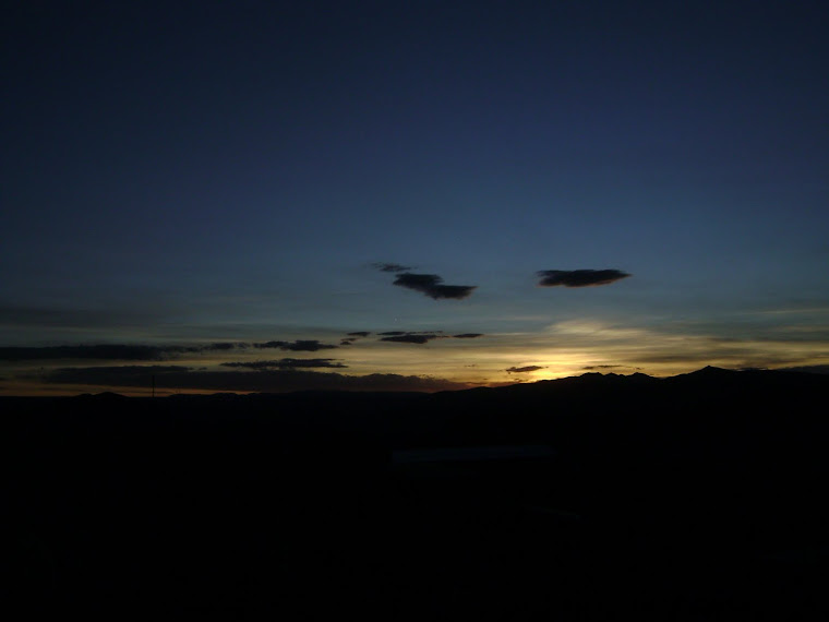 Crepúsculo en Potosí Bolivia