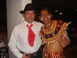 Hilário Bispo e o amigo Beto (Saruè)